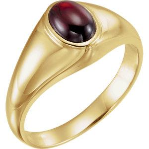 14K Yellow Gold Ring with Mozambique Garnet - Moijey Fine Jewelry and Diamonds