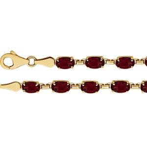 "14K Yellow Mozambique Garnet 7.25"" Bracelet - Moijey Fine Jewelry and Diamonds"