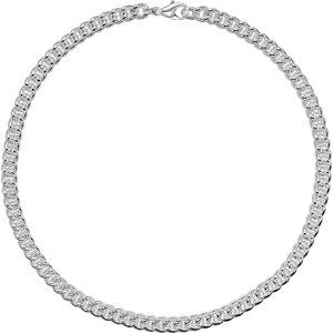"Sterling Silver 8mm Curb 8"" Chain - Moijey Fine Jewelry and Diamonds"