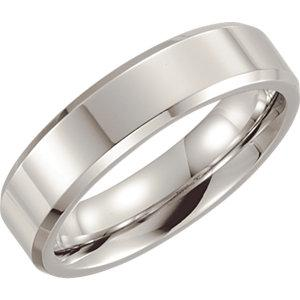 Cobalt 6mm Beveled Edge Band - Moijey Fine Jewelry and Diamonds