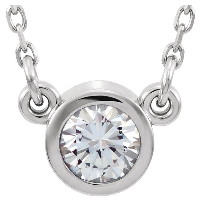 Bezel-Set Diamond Necklace