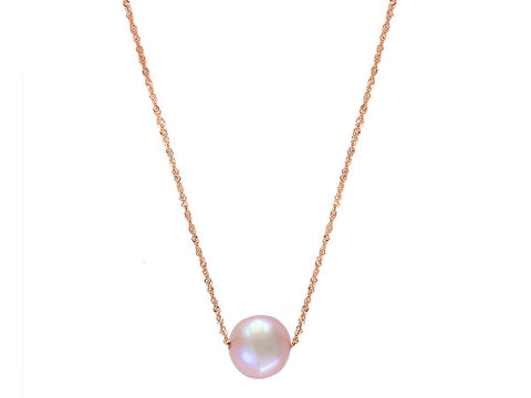 14K Single Pearl Necklace