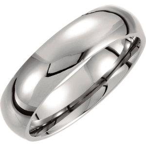 Titanium 6mm Domed Polished Band - Moijey Fine Jewelry and Diamonds
