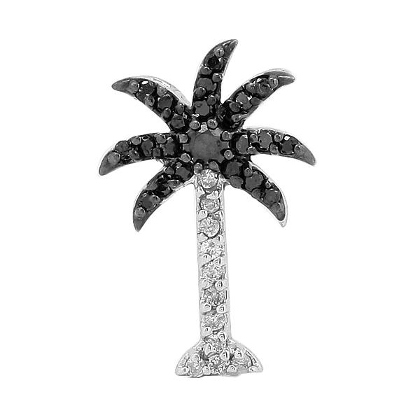 14KW 0.25ctw Black Diamond Palm Tree Pendant - Moijey Fine Jewelry and Diamonds
