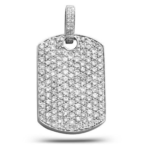14K 5.00ctw Diamond Dog Tag Pendant - Moijey Fine Jewelry and Diamonds