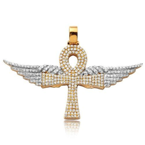 Winged Diamond Ankh Cross Pendant - Moijey Fine Jewelry and Diamonds