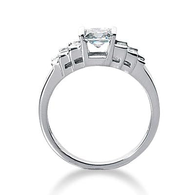 Modern Step Engagement Ring Setting - Moijey Fine Jewelry and Diamonds