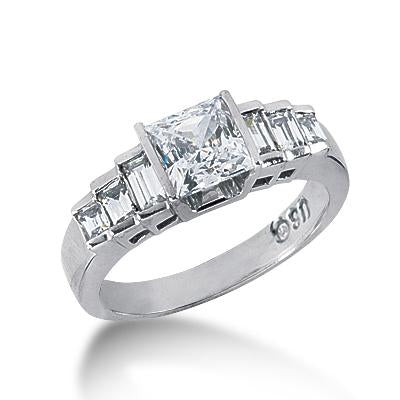 Modern Step Engagement Ring Setting