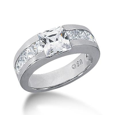 Modern Princess Engagement Ring Setting