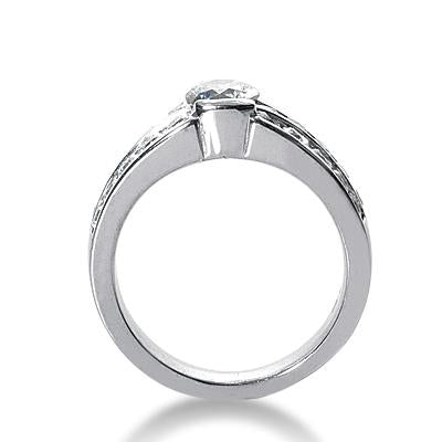 Half-Bezel Channel-Set Engagement Ring Setting