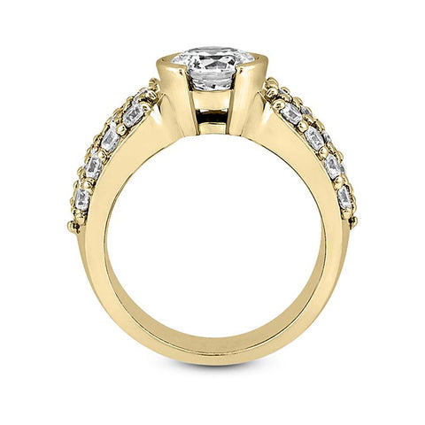 Modern Pave Engagement Ring Setting - Moijey Fine Jewelry and Diamonds