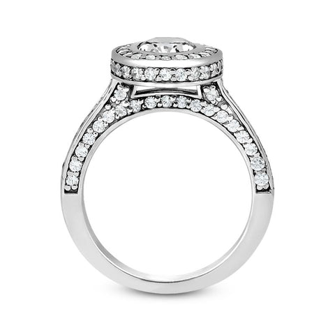 Sleek Oval Engagement Ring Setting - Moijey Fine Jewelry and Diamonds