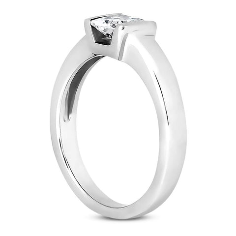 Princess Tension Solitaire Engagement Ring Setting (5.5mm) - Moijey Fine Jewelry and Diamonds