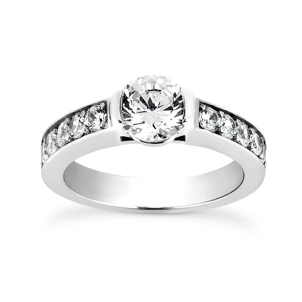 Sleek Channels Engagement Ring Setting