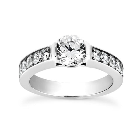 Sleek Channels Engagement Ring Setting - Moijey Fine Jewelry and Diamonds