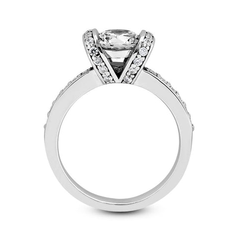 Cradled Diamond Engagement Ring Setting - Moijey Fine Jewelry and Diamonds