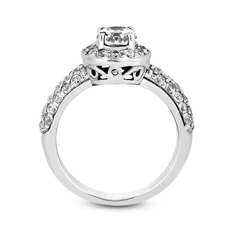Sweet Pave Halo Engagement Ring - Moijey Fine Jewelry and Diamonds