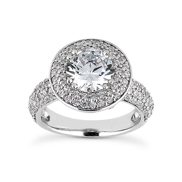 Dramatic Pave Halo Engagement Ring - Moijey Fine Jewelry and Diamonds
