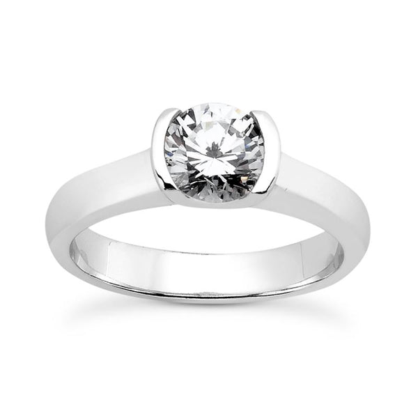 Modern Solitaire Engagement Ring (6.5mm) - Moijey Fine Jewelry and Diamonds