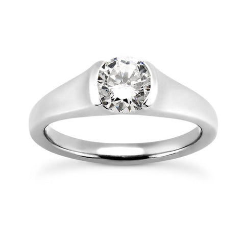 Polished Tension Engagement Ring Setting (6.5mm) - Moijey Fine Jewelry and Diamonds