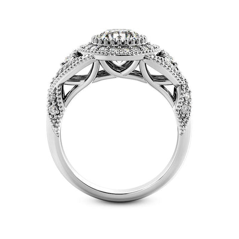 Glamorous Halo Engagement Ring - Moijey Fine Jewelry and Diamonds
