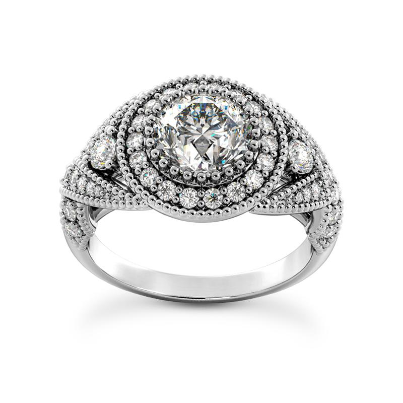 Glamorous Halo Engagement Ring