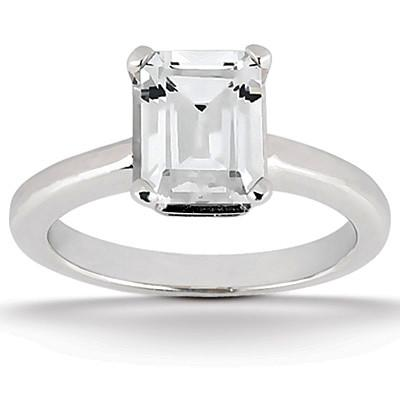 14kt Gold Semi-Mount 6x4mm Emerald Cut Center