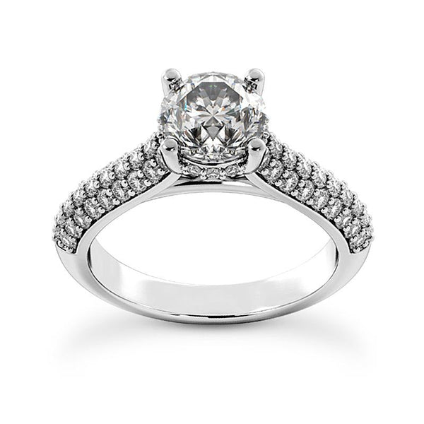 Brilliant Pave Engagement Ring Setting