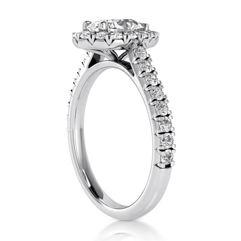 Timeless Pear-Shaped Halo Engagement Ring Setting - Moijey Fine Jewelry and Diamonds