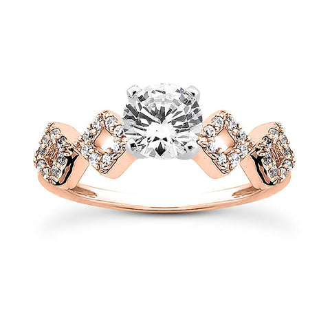 NiNi Zig-Zag Diamond Engagement Ring Setting
