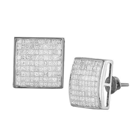 14KW 1.75ctw Square Dome Earrings - Moijey Fine Jewelry and Diamonds