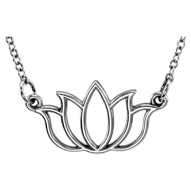 14K Tiny Lotus Necklace