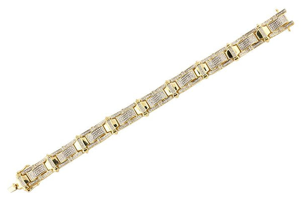 10ky 1.70ctw Diamond Men's Bracelet