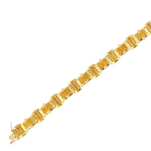 10ky 1.10ctw Yellow Diamond Men's Bracelet