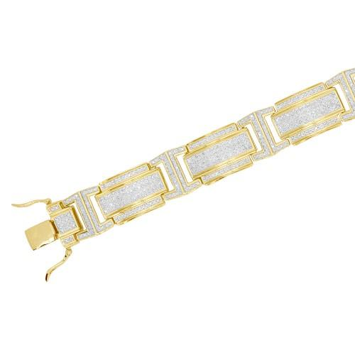 10KY 2.25ctw Diamond Men's Bracelet