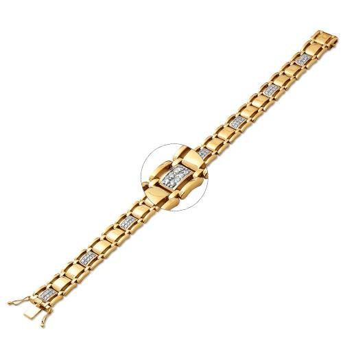 10KY 1.00ctw Diamond Men's Bracelet 8.5""