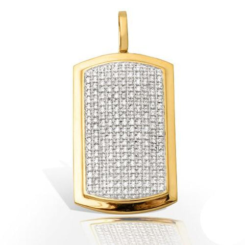 10KY 2.00ctw Diamond Dogtag Pendant - Moijey Fine Jewelry and Diamonds