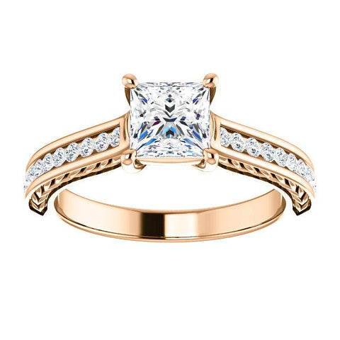 Wheat-Inspired Semi-Set Engagement Ring - Moijey Fine Jewelry and Diamonds