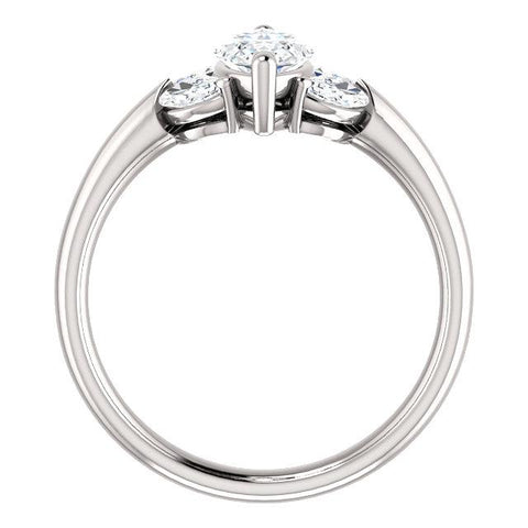 Vintage-Inspired Marquise Engagement Ring Setting (10x5mm) - Moijey Fine Jewelry and Diamonds