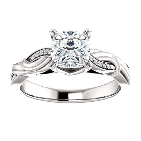 Infinite Ribbon Cushion Engagement Ring Setting - Moijey Fine Jewelry and Diamonds