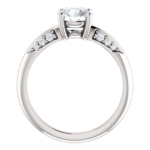 14K White 1/6 CTW Diamond Semi-Set Engagement Ring - Moijey Fine Jewelry and Diamonds
