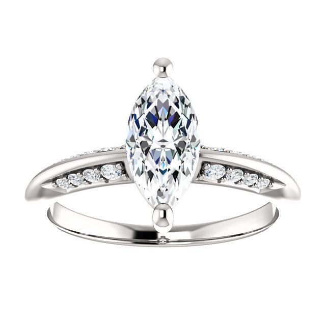 Knife-Edge Marquise Engagement Ring Setting (10x5mm)