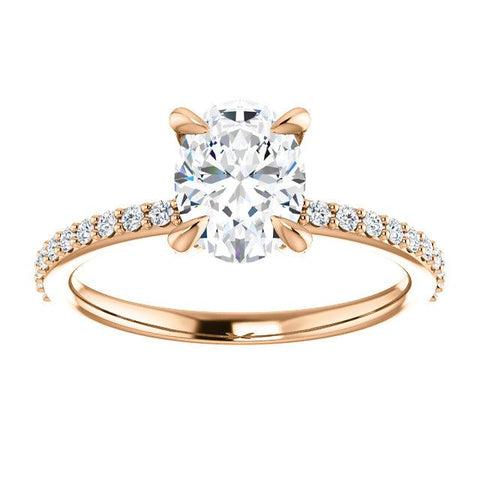 Accented Oval Engagement Ring Setting - Moijey Fine Jewelry and Diamonds