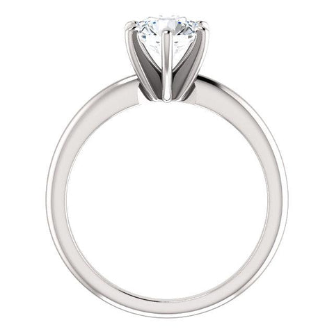 Solitaire Engagement Ring Mounting | White Diamond Engagement Ring | Diamond Ring
