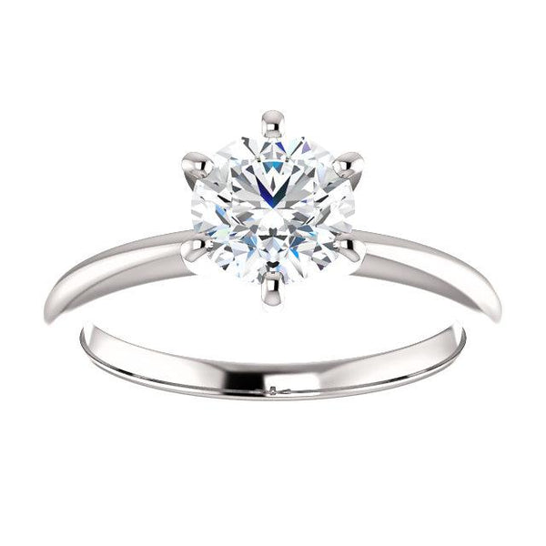 Timeless Round Solitaire Engagement Ring Setting