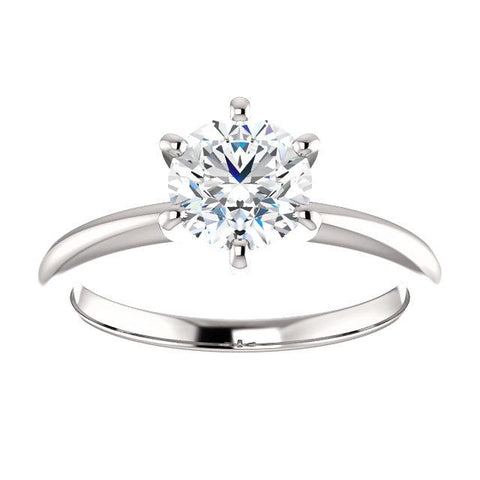 Timeless Round Solitaire Engagement Ring Setting - Moijey Fine Jewelry and Diamonds