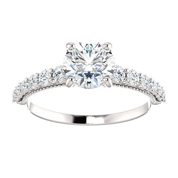 1/3 CTW Diamond Round Engagement Ring Setting - Moijey Fine Jewelry and Diamonds