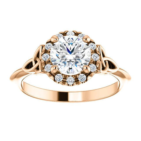 French-Set Celtic Engagement Ring Setting - Moijey Fine Jewelry and Diamonds