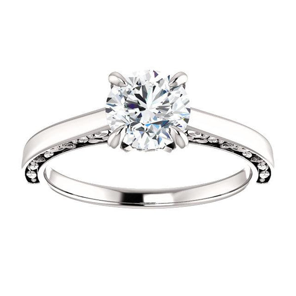 Rose-Inspired Solitaire Engagement Ring