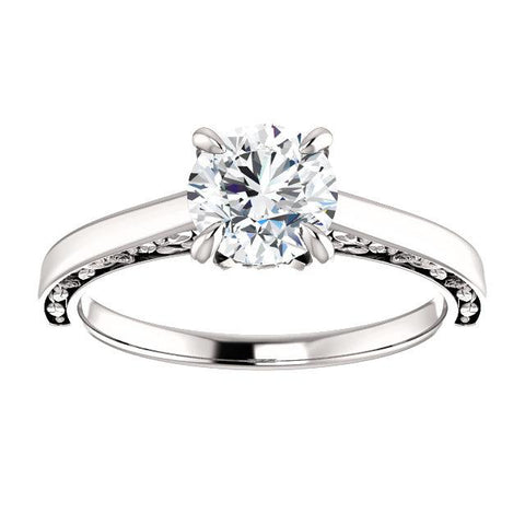 14K Rose 5.2mm Round .05 CTW Diamond Semi-Set Engagement Ring - Moijey Fine Jewelry and Diamonds